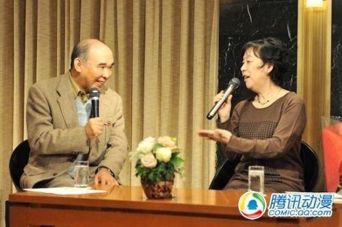 田中芳树参加荻尾望都舞台发表会