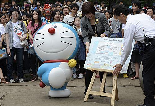 哆啦A梦注册成为川崎市特别居民。新华社发(关贤一郎摄)