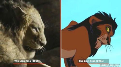 狮子王2019电影对比94年动画原版 辛巴还原度爆表