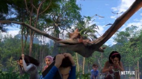 《侏罗纪世界》衍生动画:少年少女龙口逃生