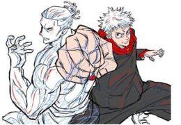 《咒术回战》总作画监督公开最新绘制的虎杖悠仁&东堂